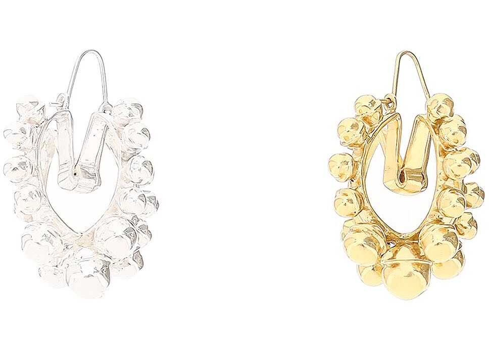 Patou Mismatching Earrings GOLD SILVER