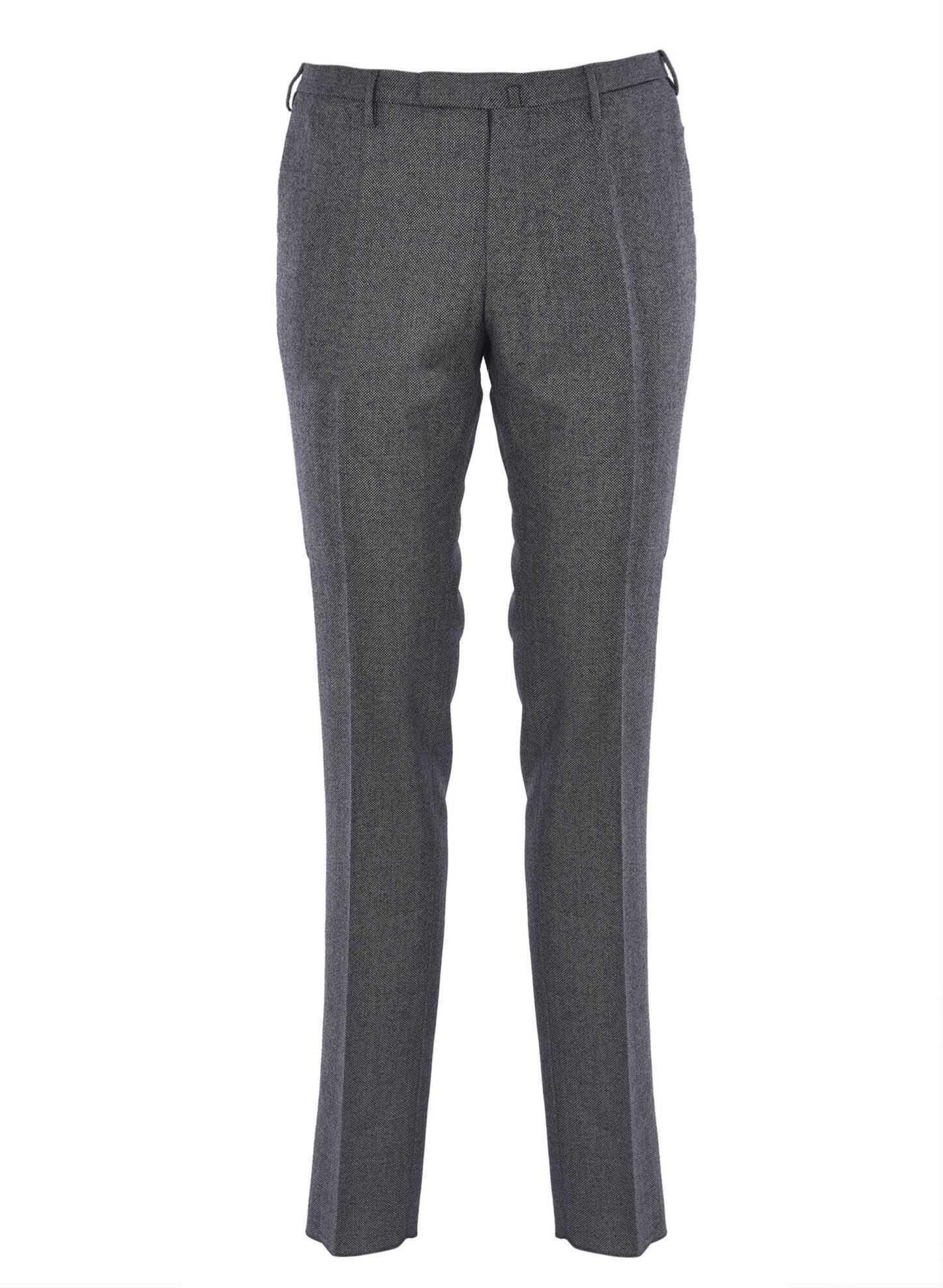 Incotex Partridge Eye Pants In Grey Grey imagine