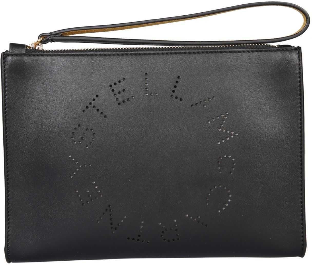 Stella McCartney Pouch With Logo 502892_W85421000 BLACK imagine b-mall.ro