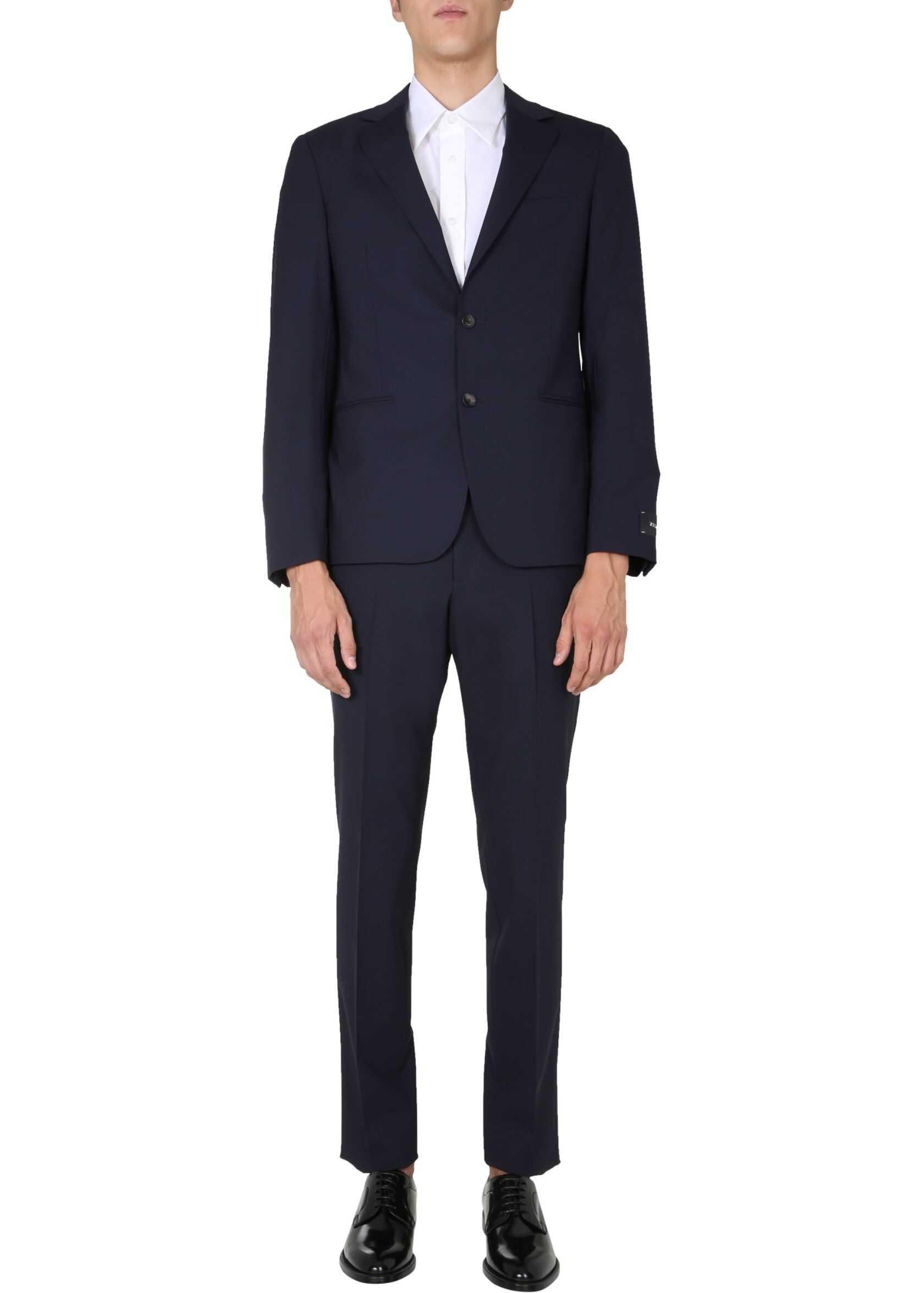 Z Zegna Slim Fit Suit BLUE imagine