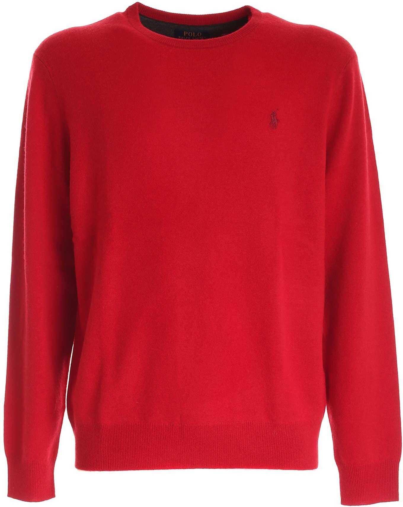 Ralph Lauren Logo Pullover In Red Red imagine