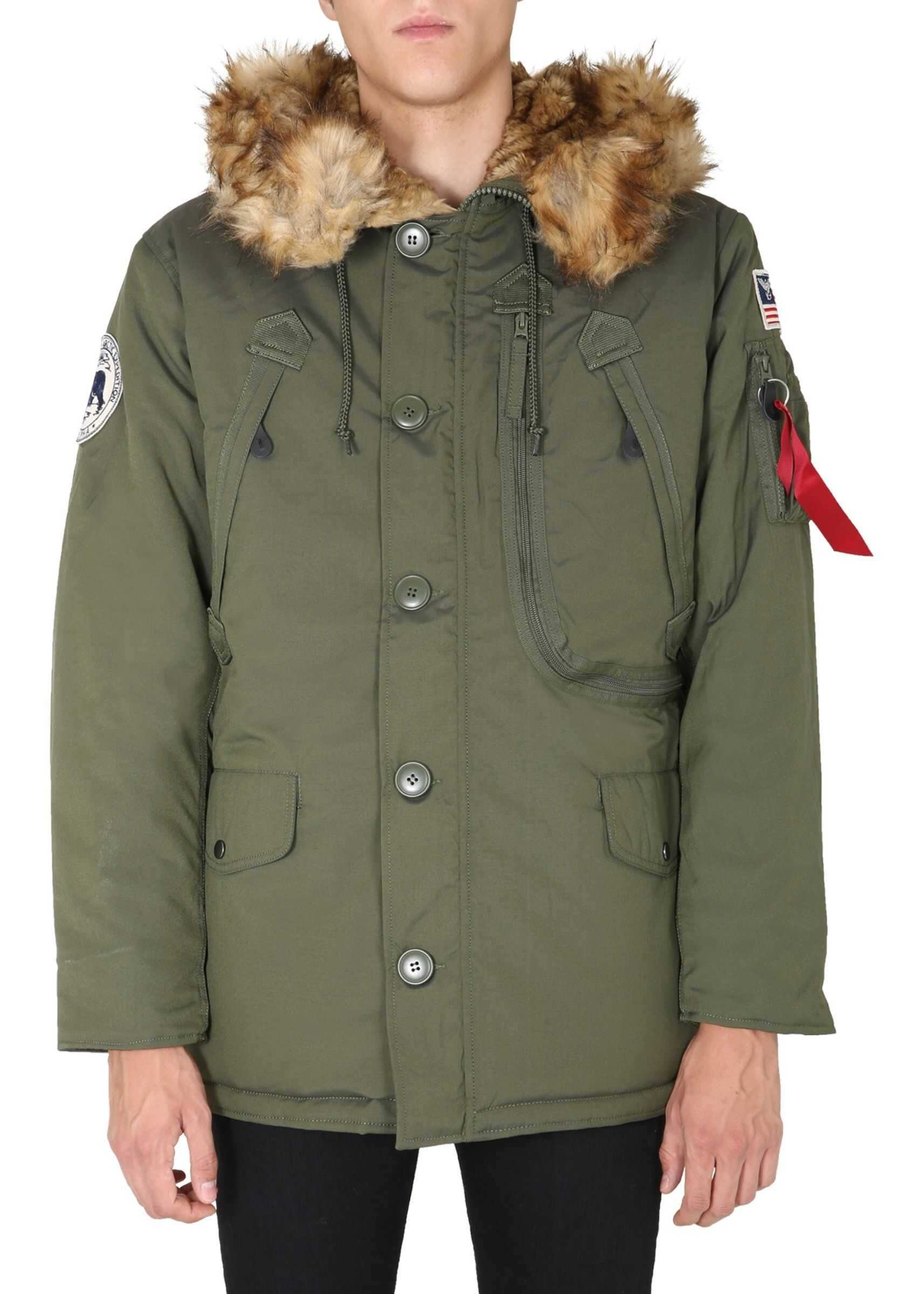 "Alpha Industries ""Polar"" Parka GREEN imagine"