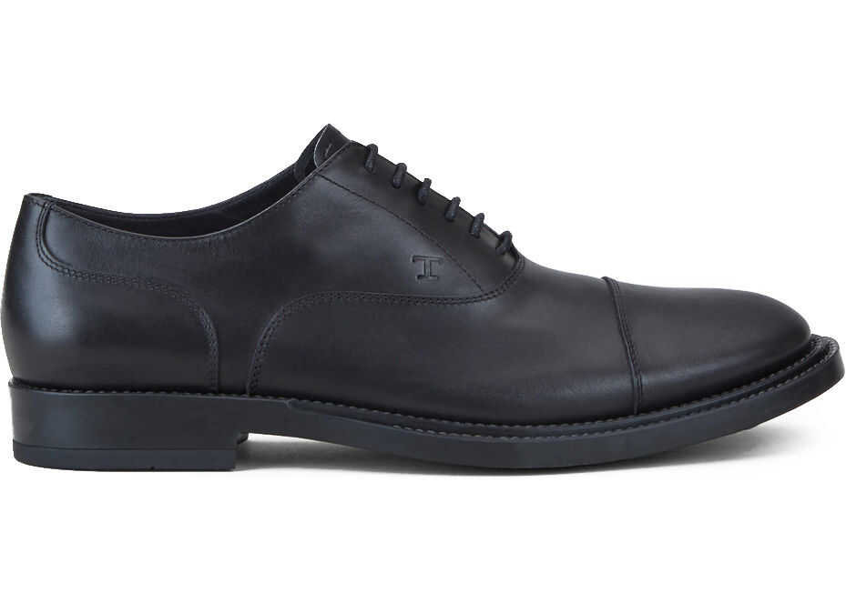 TOD'S Lace-Up In Leather XXM62C00N50 OLW Black imagine b-mall.ro