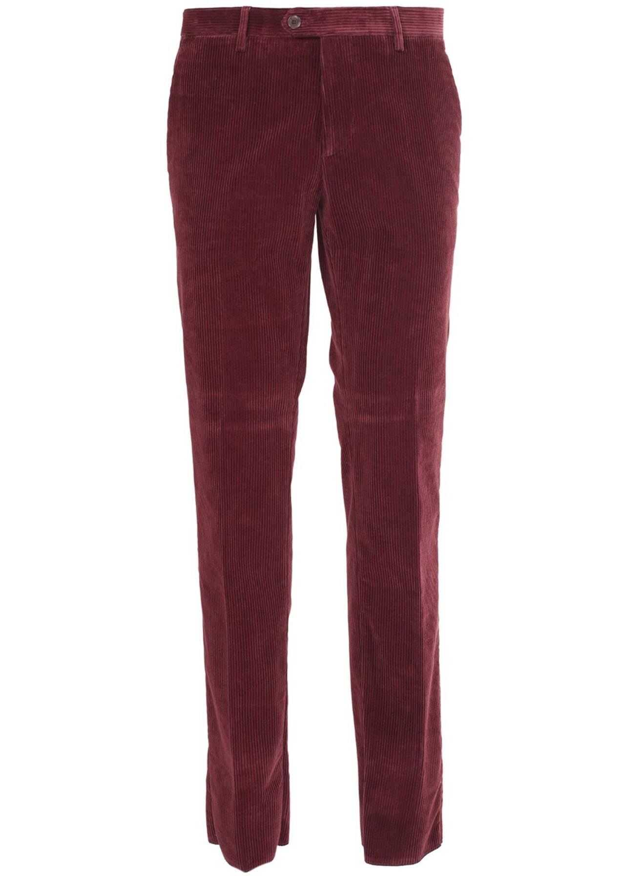 ETRO Corduroy Trousers In Red Red imagine