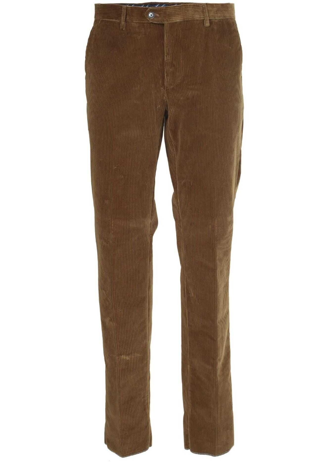 ETRO Corduroy Trousers In Brown Brown imagine