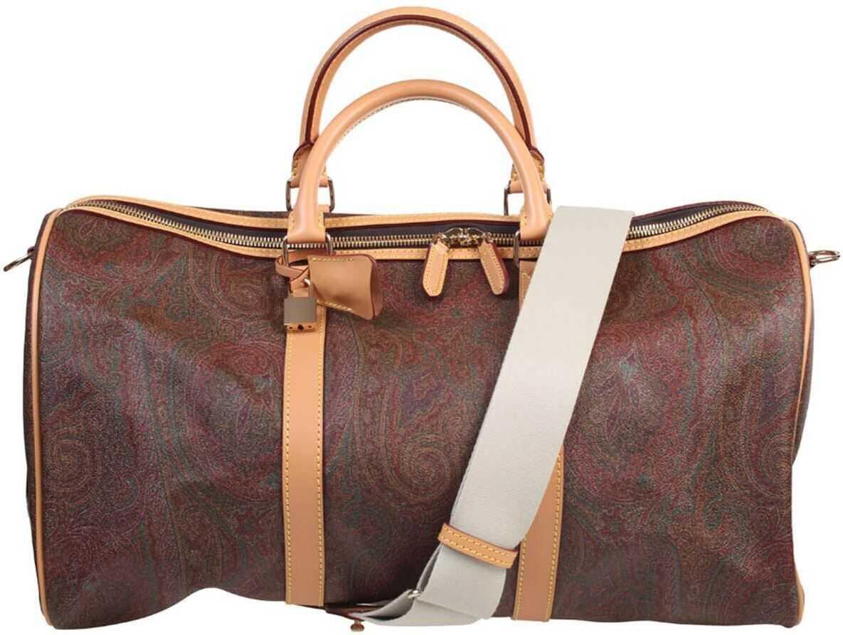 ETRO Travel Bag In Coated Cotton In Multicolor 004 8007 600 Multi imagine b-mall.ro