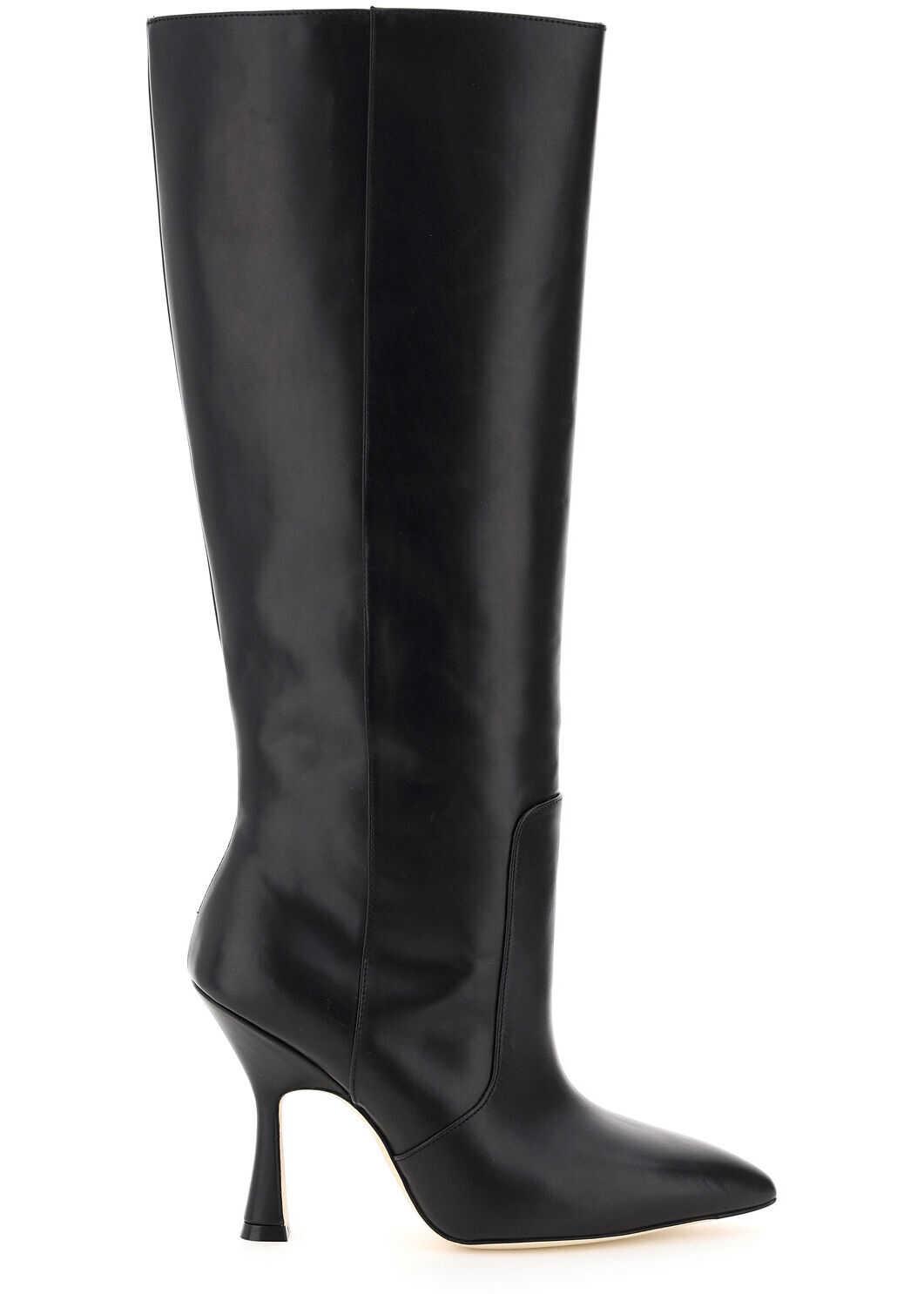 Stuart Weitzman Parton Leather Boots PARTON BLACK imagine b-mall.ro