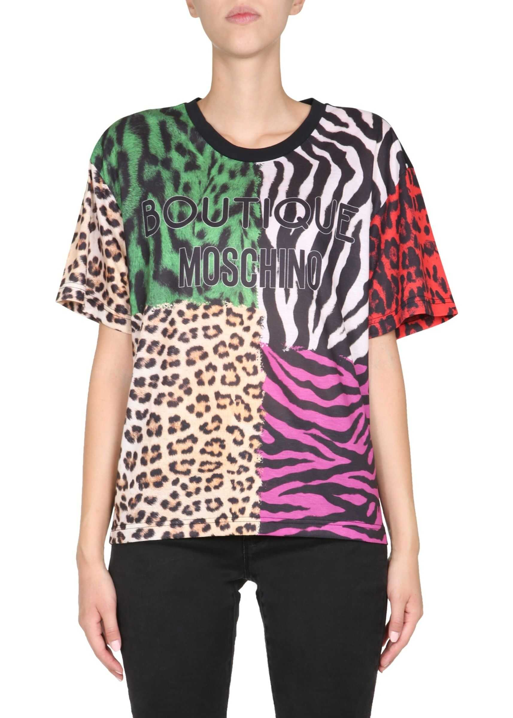 LOVE Moschino Round Neck T-Shirt* MULTICOLOUR
