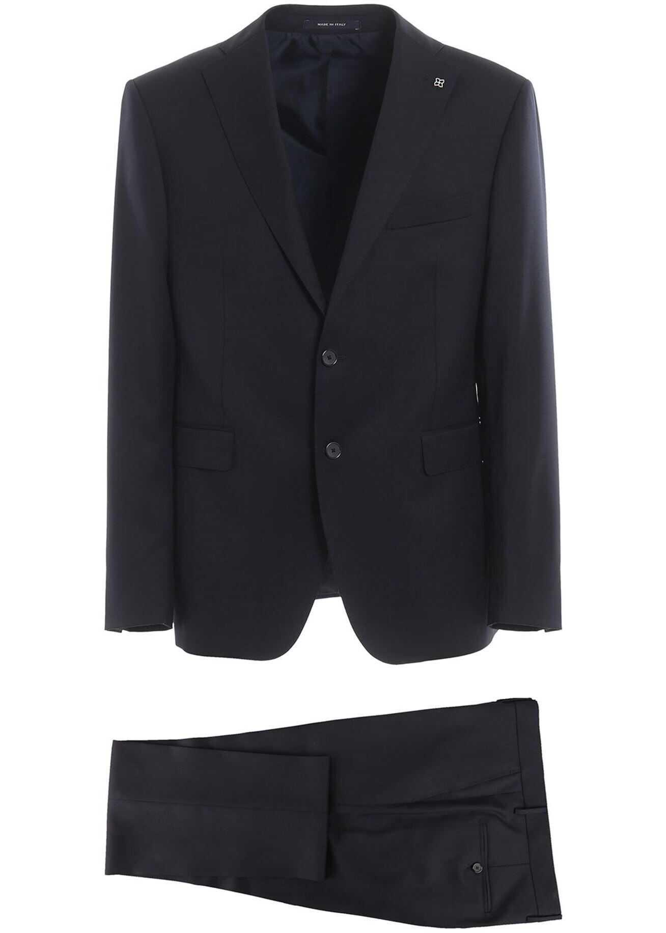Tagliatore Super 110'S Virgin Wool Two-Piece Suit In Blue Blue imagine