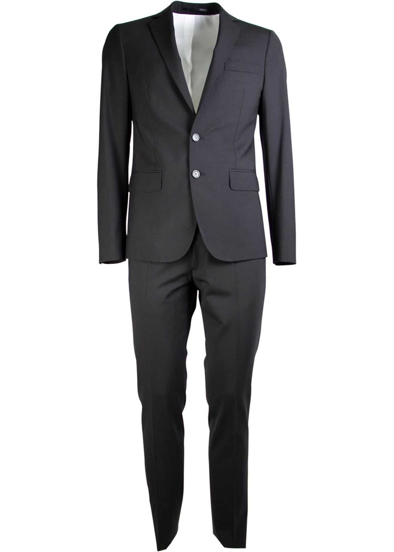Two-Piece Slim Suit In Black