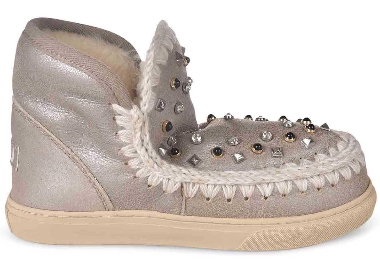 Mou Eskimo Sneakers With Studs In Beige MU.FW111023B STME Beige imagine b-mall.ro