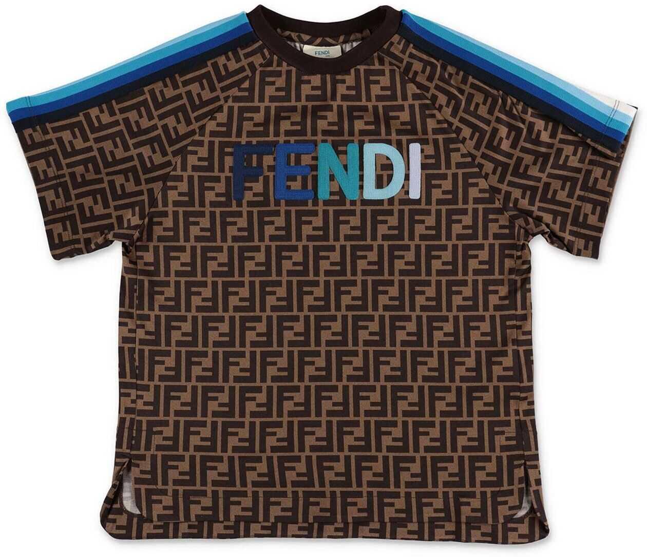 Zucca T-Shirt With Light Blue Details