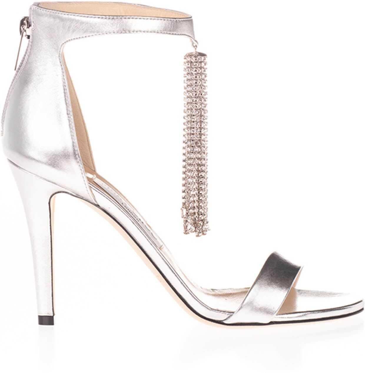 Viola 100 Sandals In Silver Color
