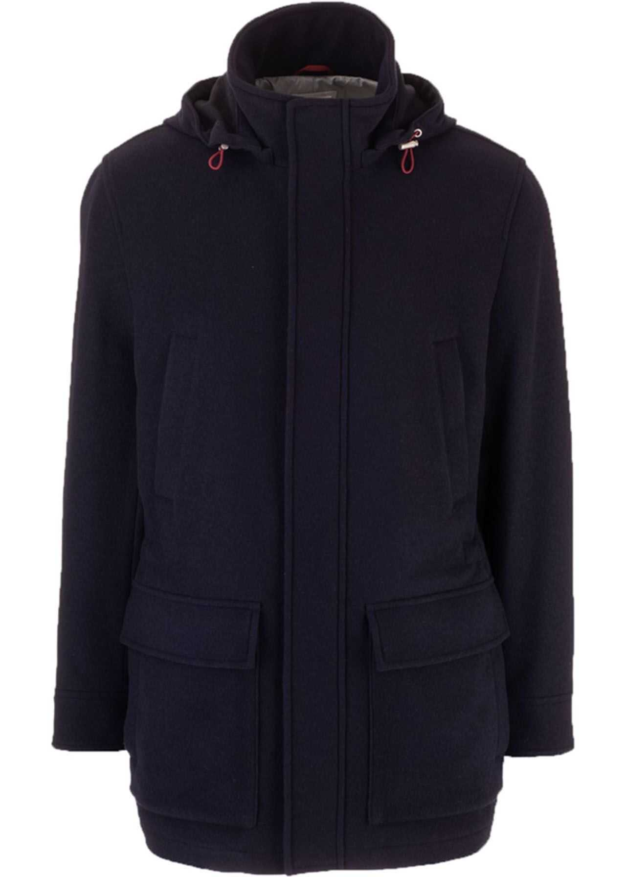 Brunello Cucinelli Cashmere Tight Jacket In Blue Blue imagine