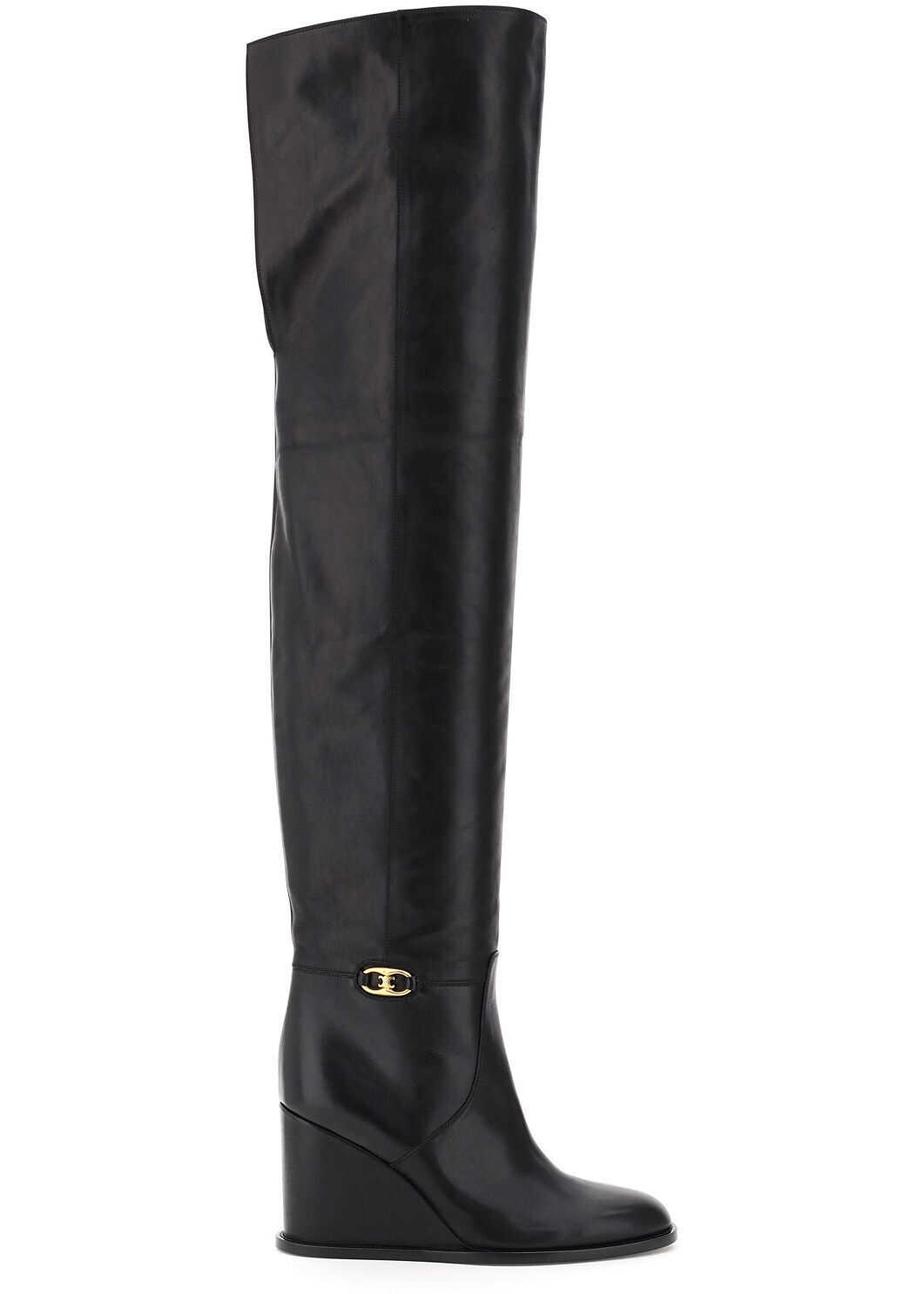 Céline Manon Over The Knee Leather Boots 339683194C BLACK imagine b-mall.ro