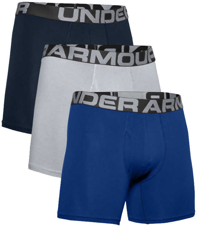 Under Armour Charged Cotton 6IN 3 Pack Blue imagine