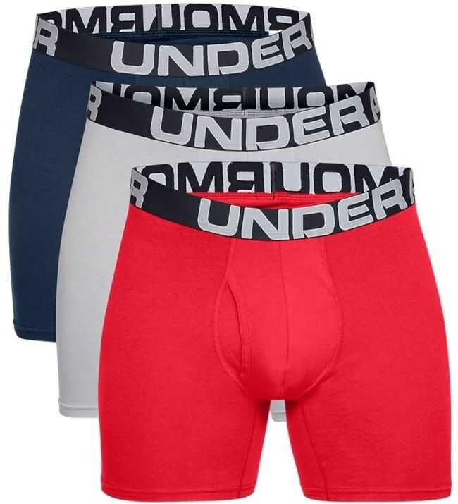 Under Armour Charged Cotton 6IN 3 Pack Red imagine