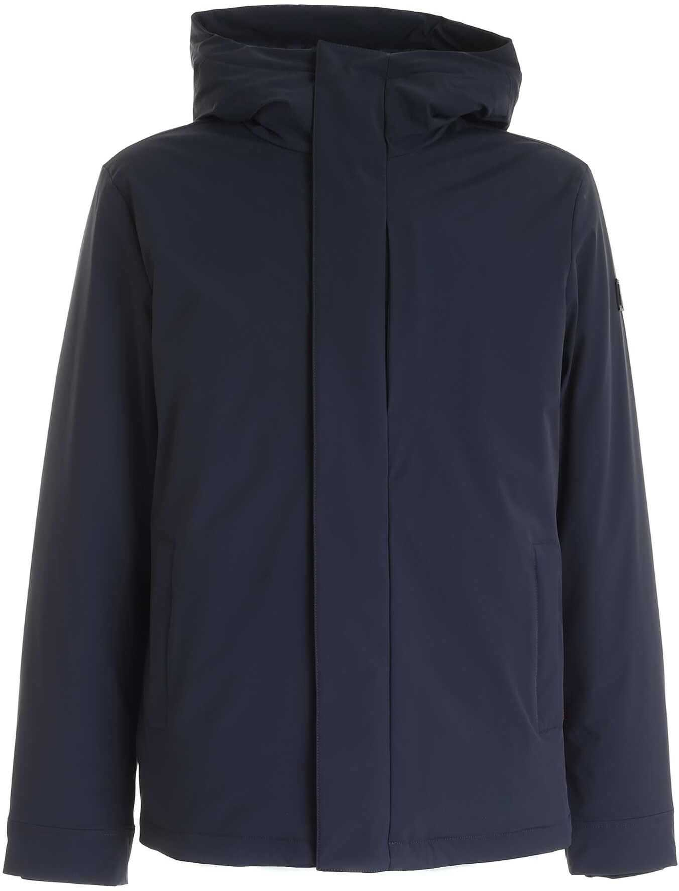Woolrich Pacific Down Jacket In Blue Blue imagine