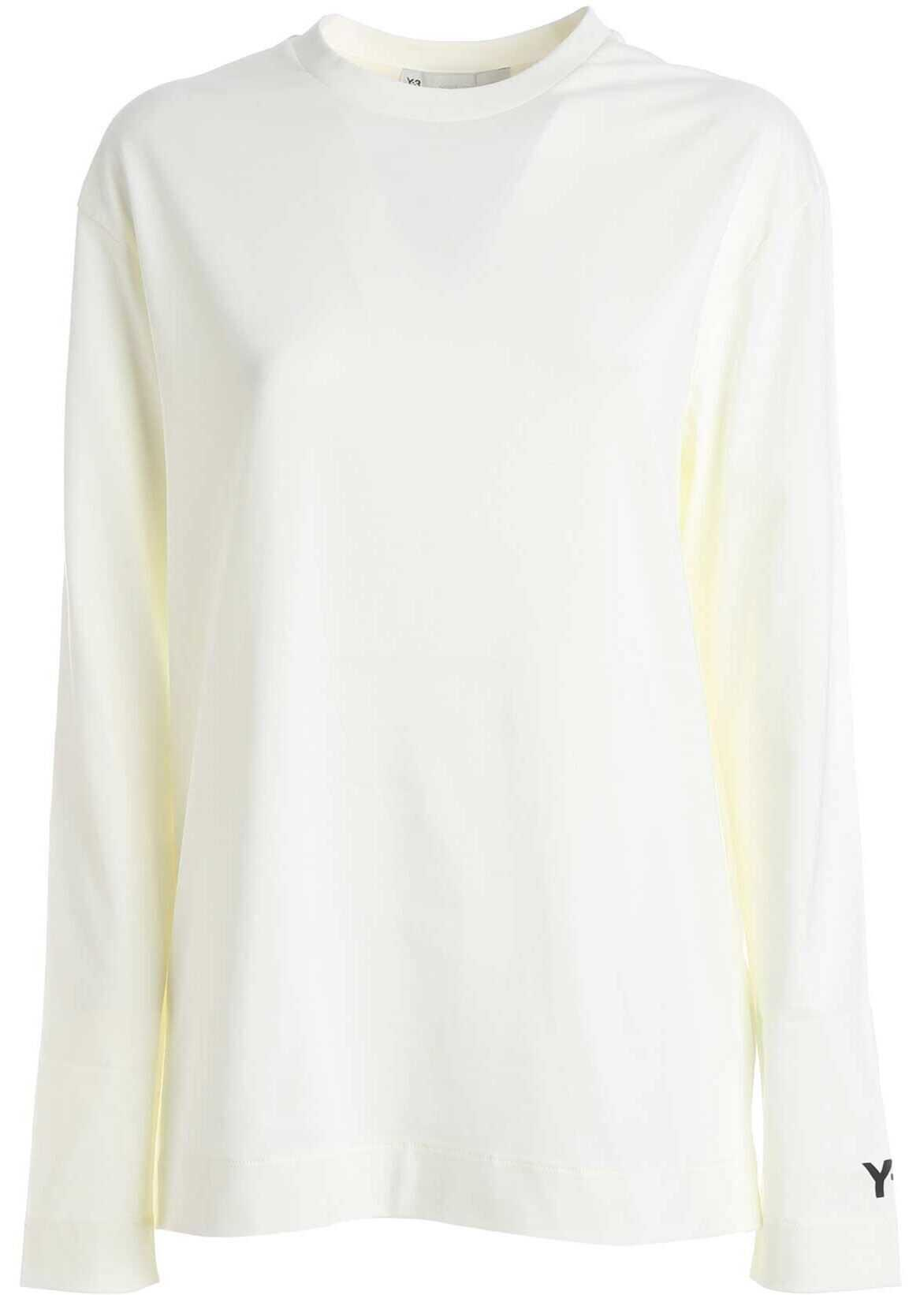 Y-3 Ch2 Graphic T-Shirt In Ivory Color White