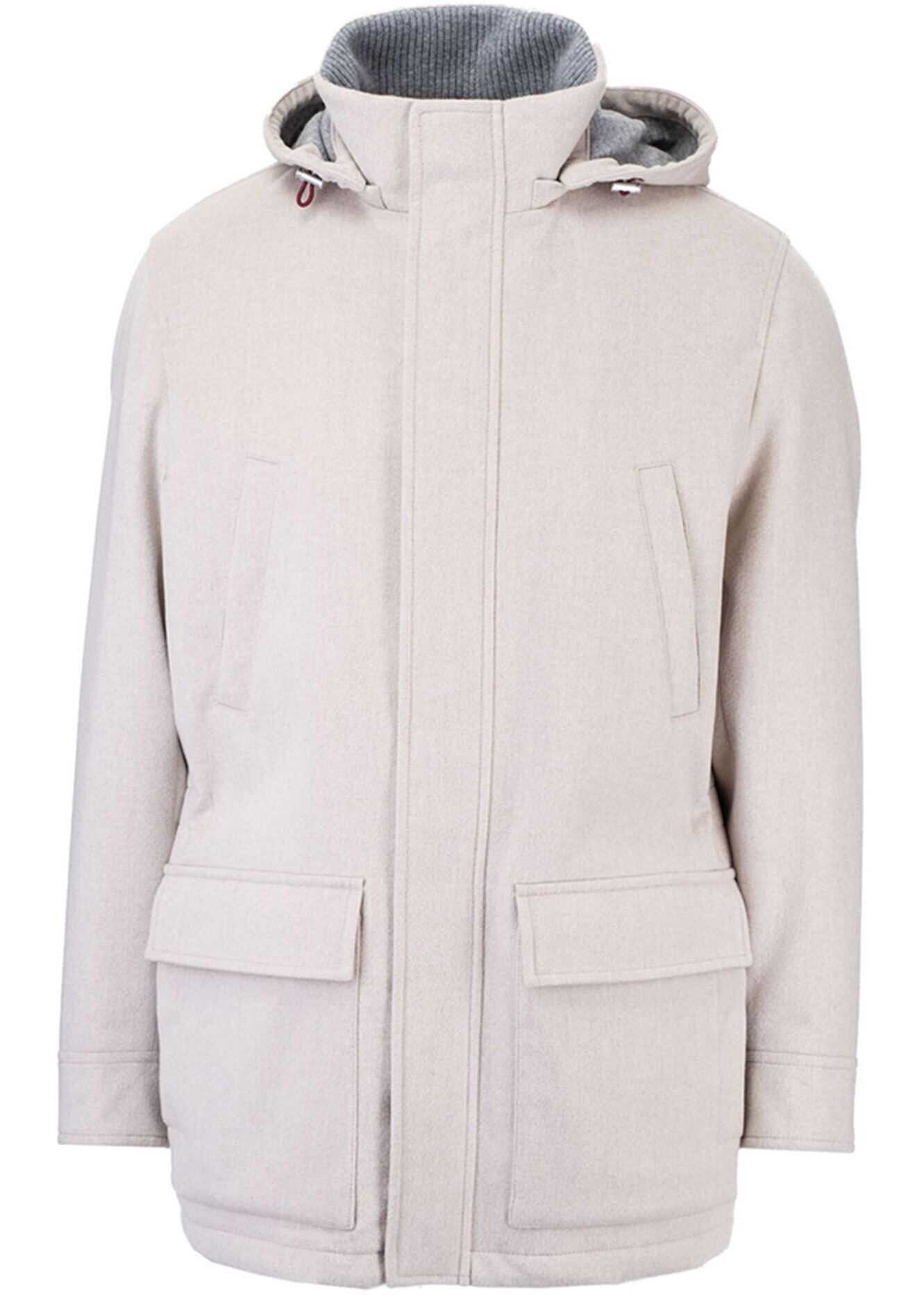 Brunello Cucinelli Thermore® Parka In Lessivè Color Grey imagine