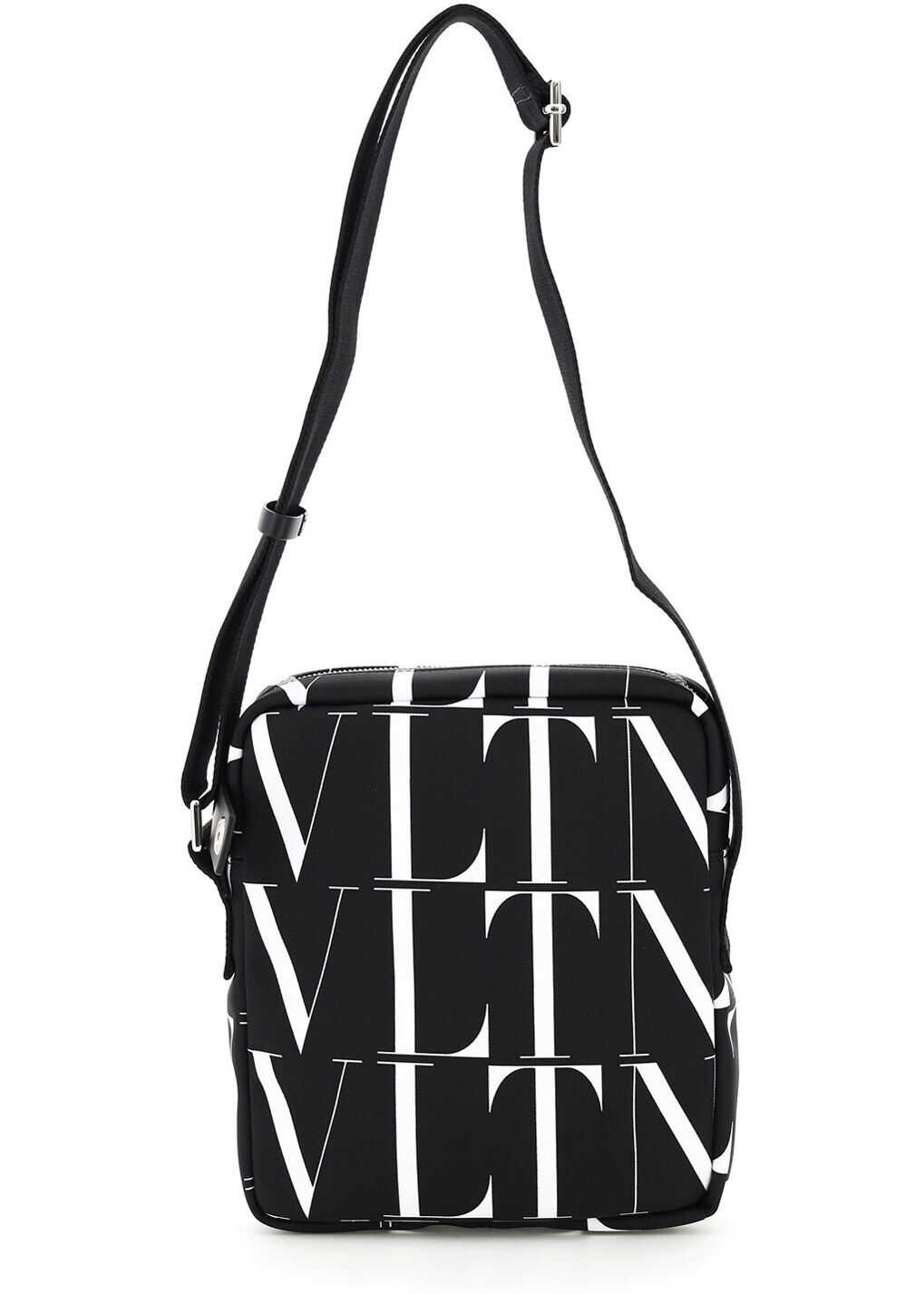 Valentino Garavani Vltn Print Nylon Messenger UY2B0987HWP NERO BIANCO imagine b-mall.ro