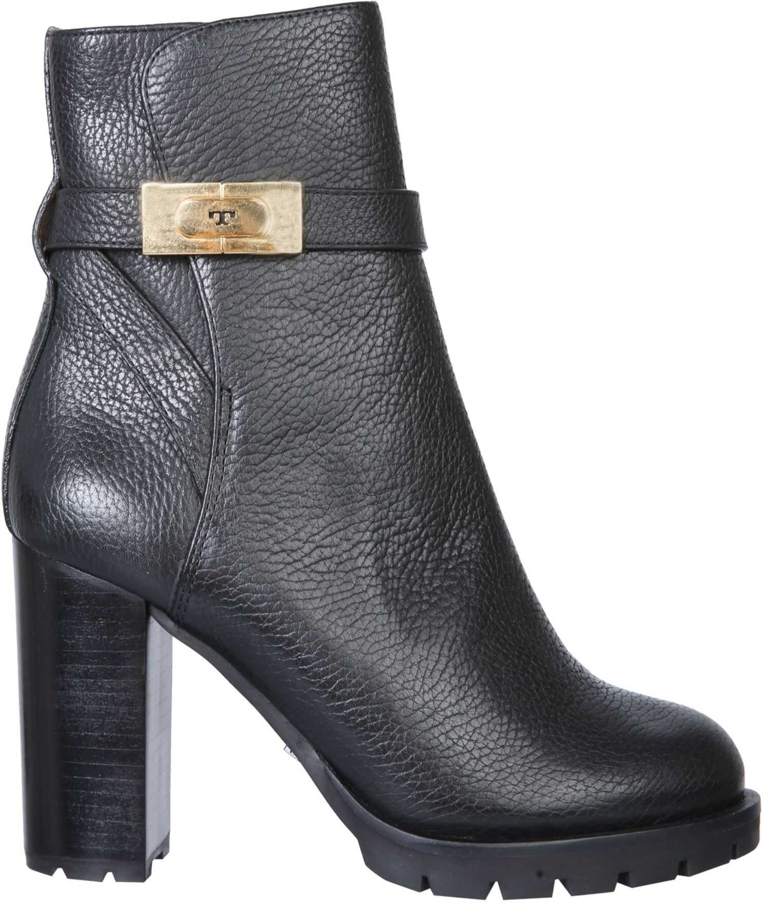 Tory Burch Boots With Logo 74355_006 BLACK imagine b-mall.ro