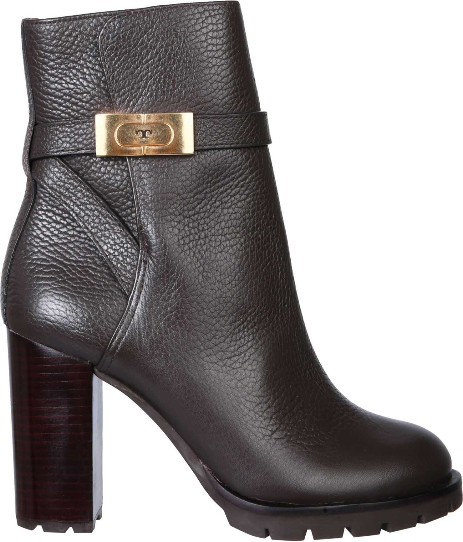 Tory Burch Boots With Logo 74355_200 BROWN imagine b-mall.ro