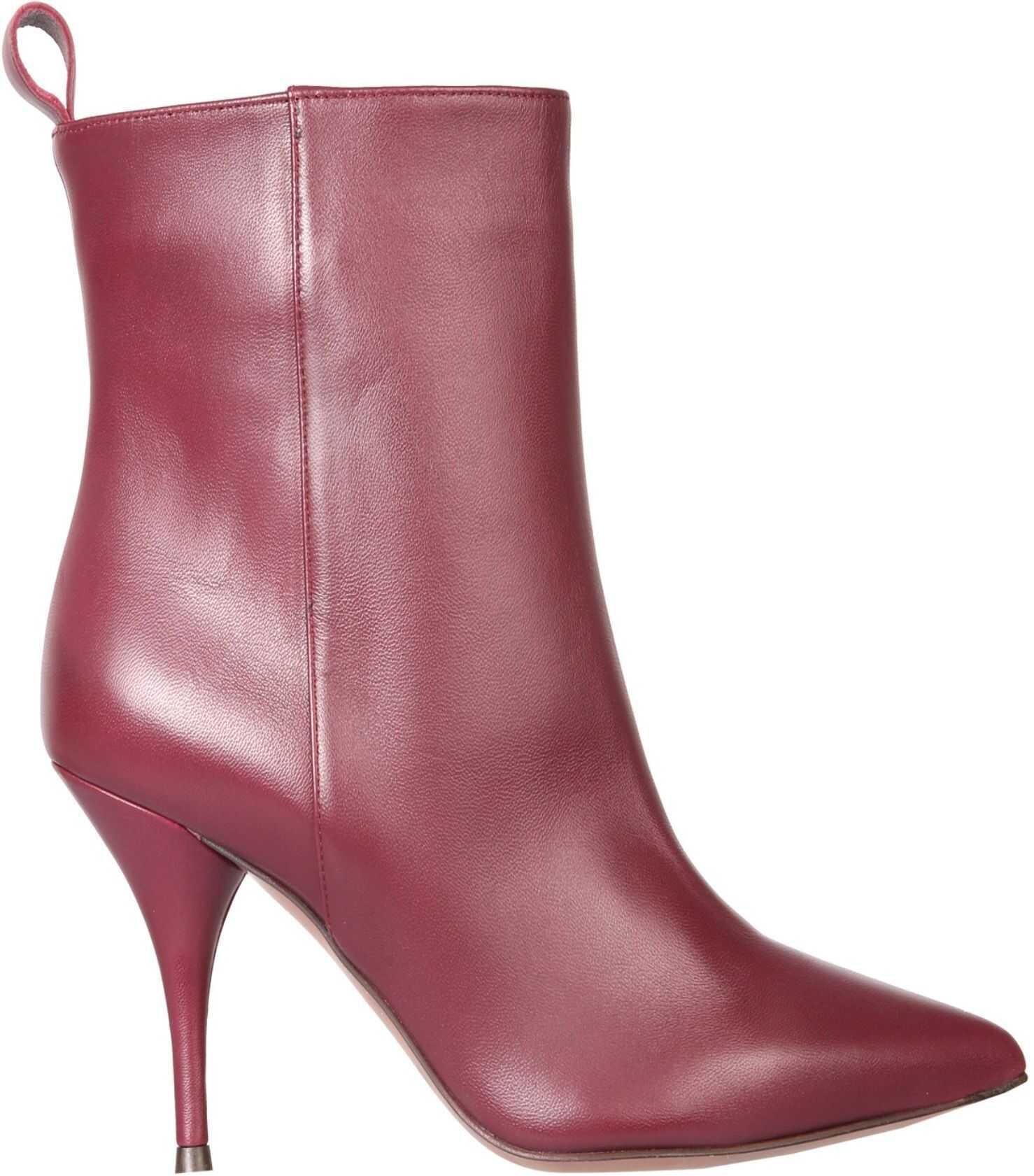 L'Autre Chose Tubular Boots LDH004.85WP_26154018 BORDEAUX imagine b-mall.ro