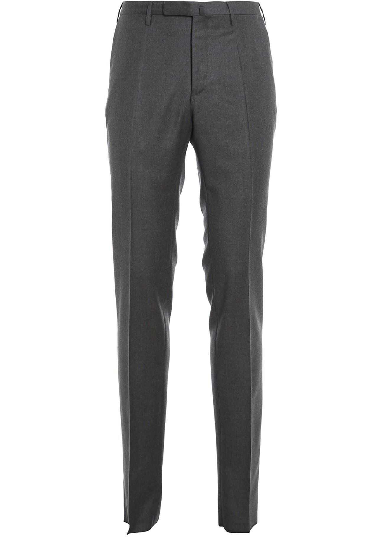 Incotex Virgin Wood Trousers In Grey Grey imagine
