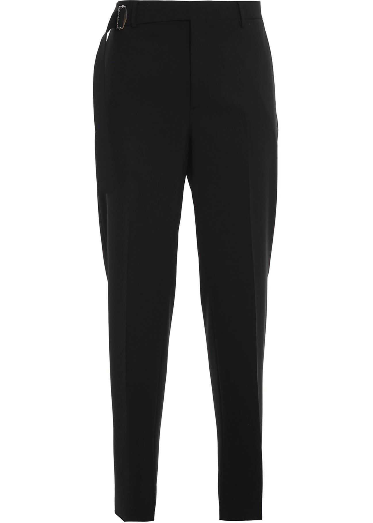 Valentino Garavani Wool Blend Pants In Black Black imagine