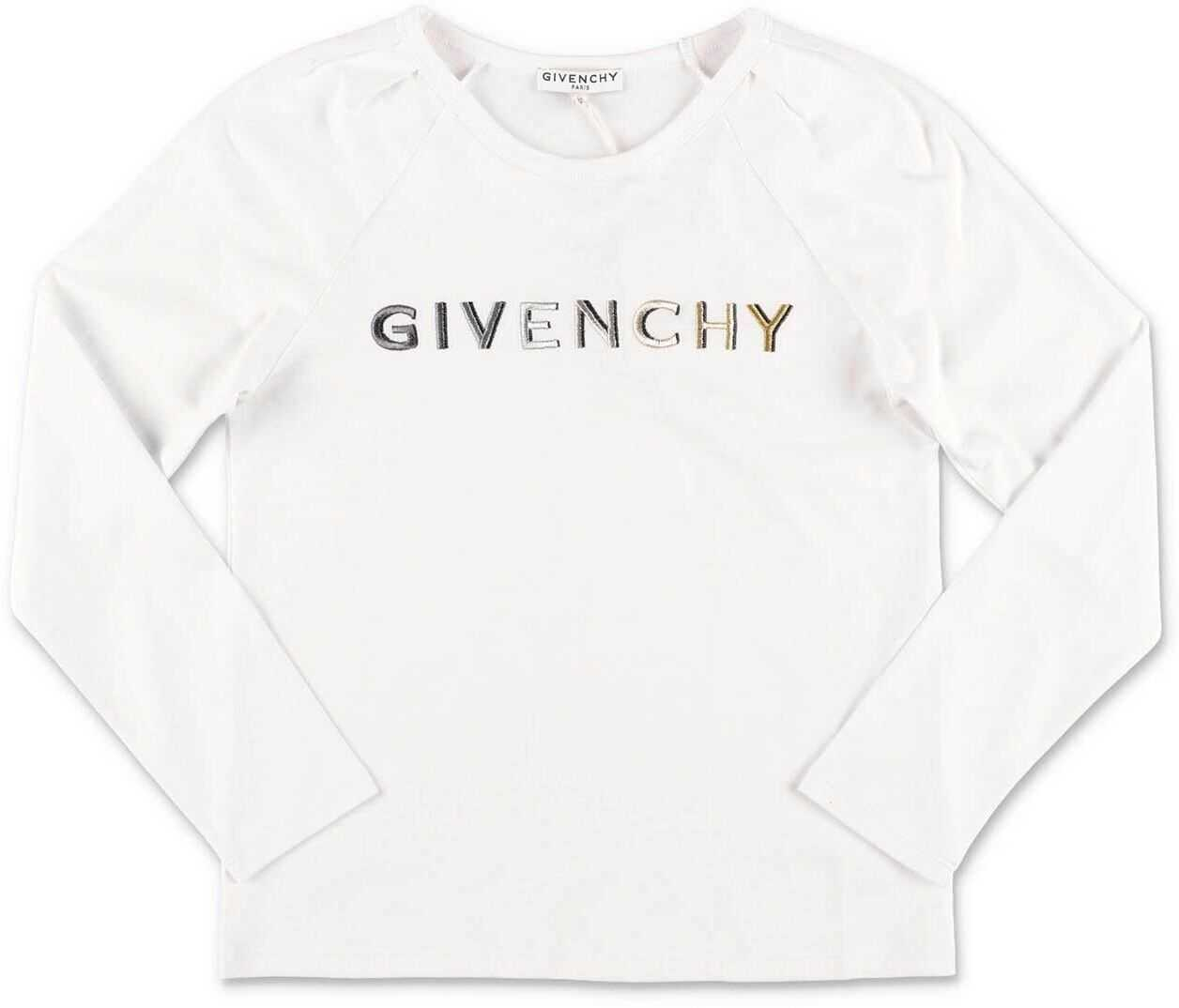 Givenchy Long Sleeve T-Shirt In White White
