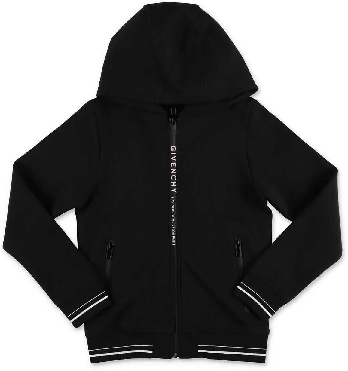 Zipped Sweatshirt In Black