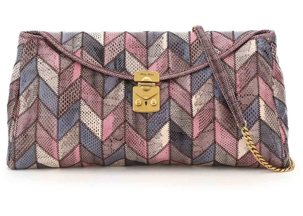 Miu Miu Ayers Patchwork Clutch Bag 5BF109 V OOO 2DVE ANTICO imagine b-mall.ro