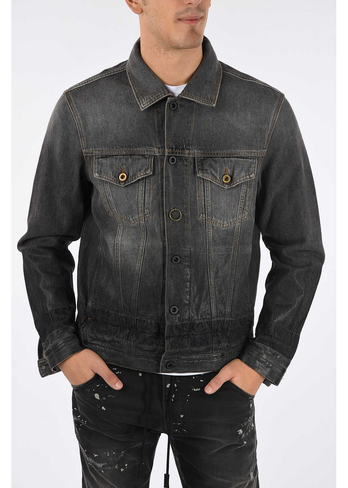 Diesel Denim NHILL Jacket BLACK imagine