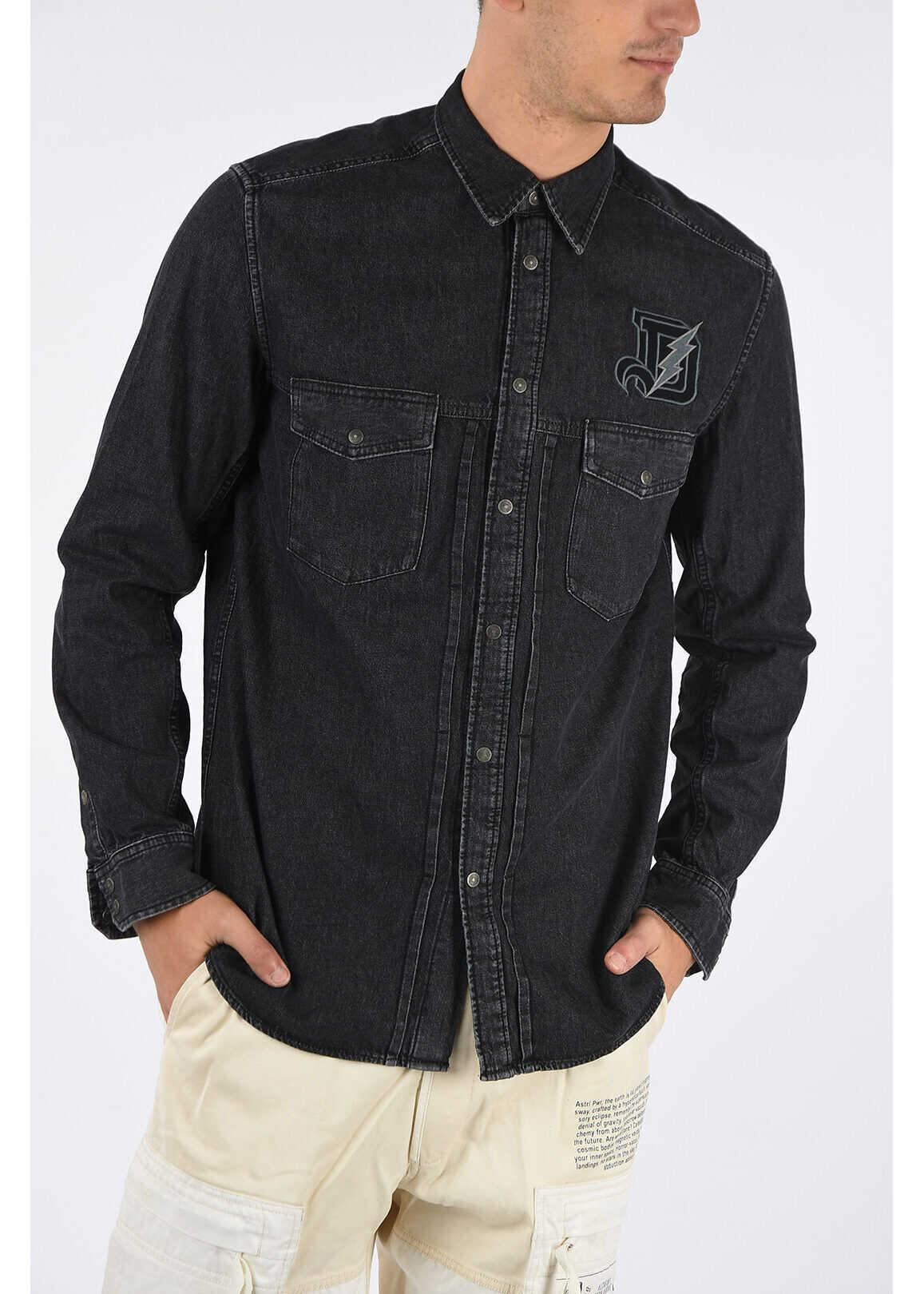 Diesel Denim D-BANDY-B Shirt BLACK imagine