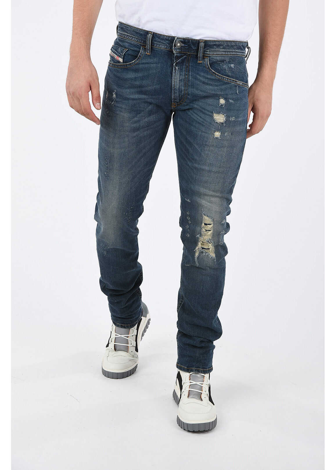 Diesel 16cm Distressed THOMMER Jeans L34 BLUE imagine
