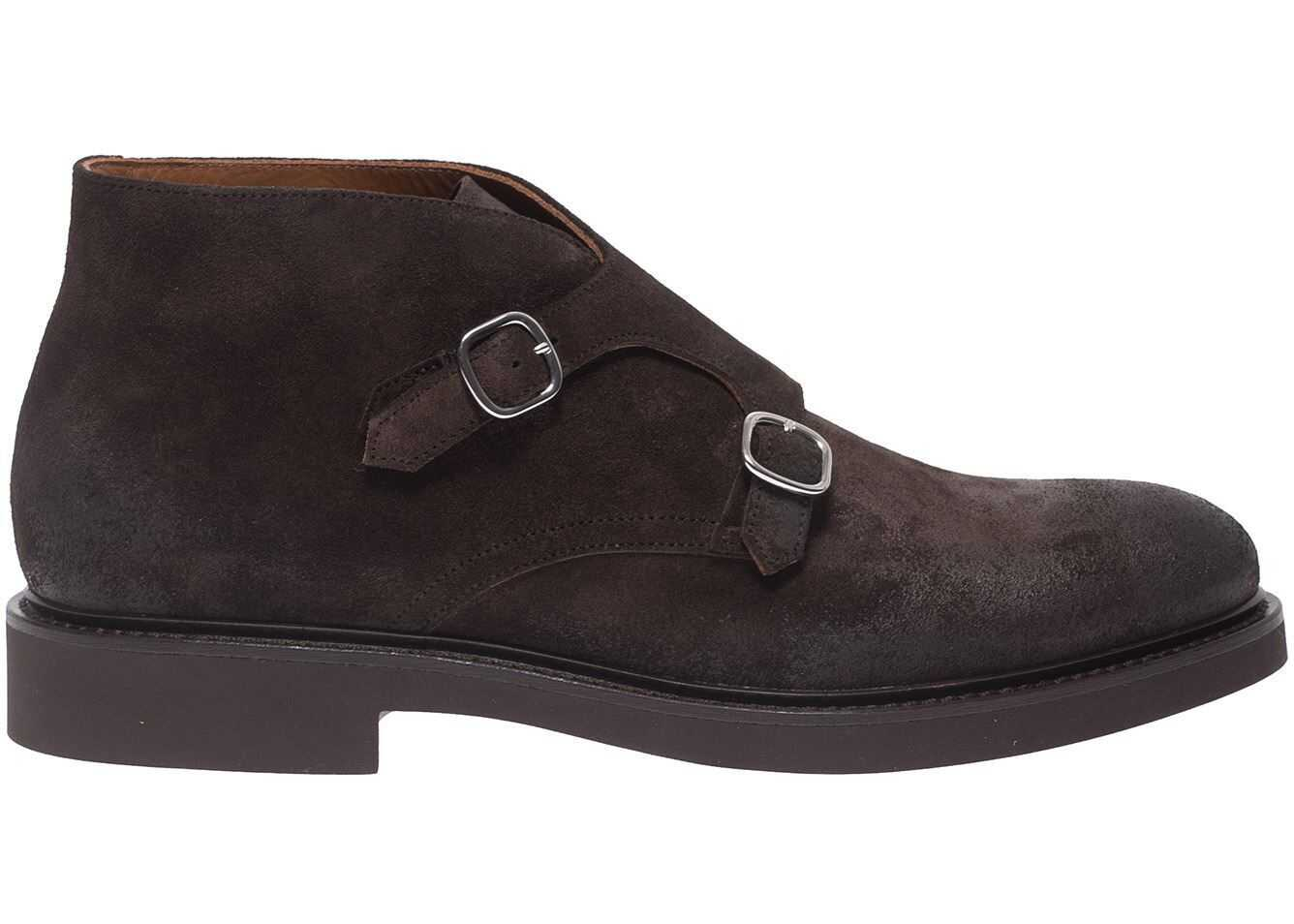 Doucal's Vintage Effect Monk-Strap In Brown DU2700GENOUF011TM00 Brown imagine b-mall.ro
