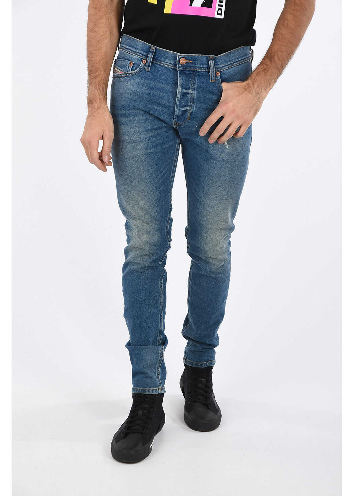Diesel 17cm Slim Fit TEPPHAR Jeans L32 BLUE imagine