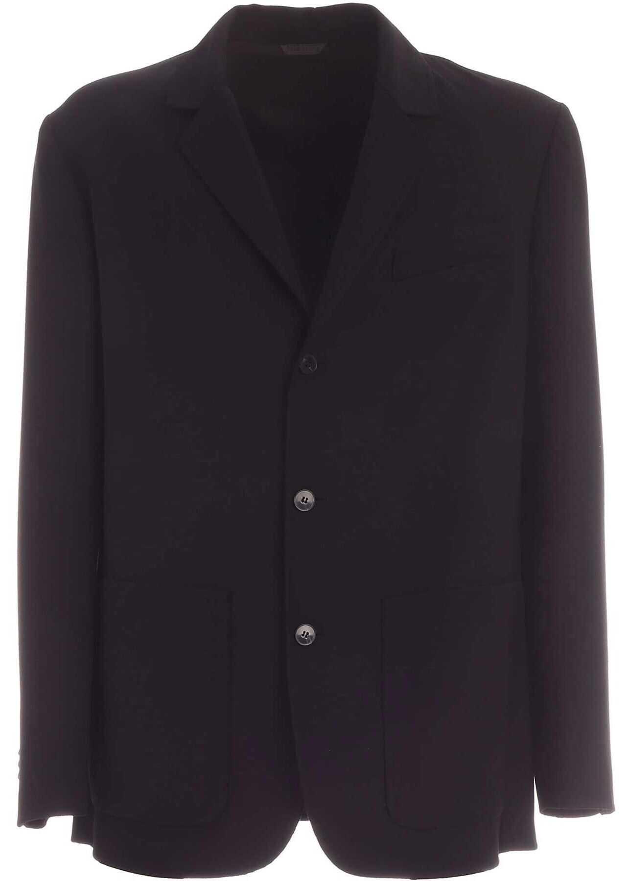 Valentino Garavani Single-Breasted Jacket In Black Black imagine