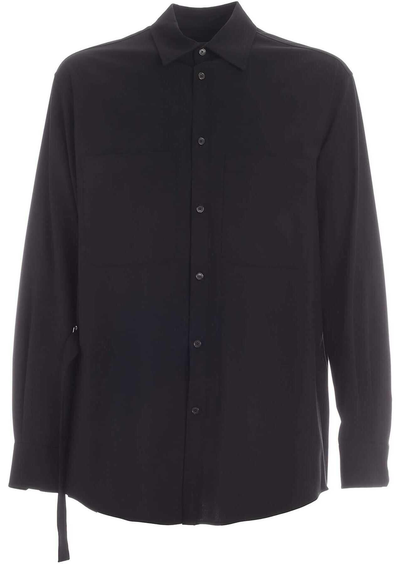 Valentino Garavani Buckle Detail Shirt In Black Black imagine