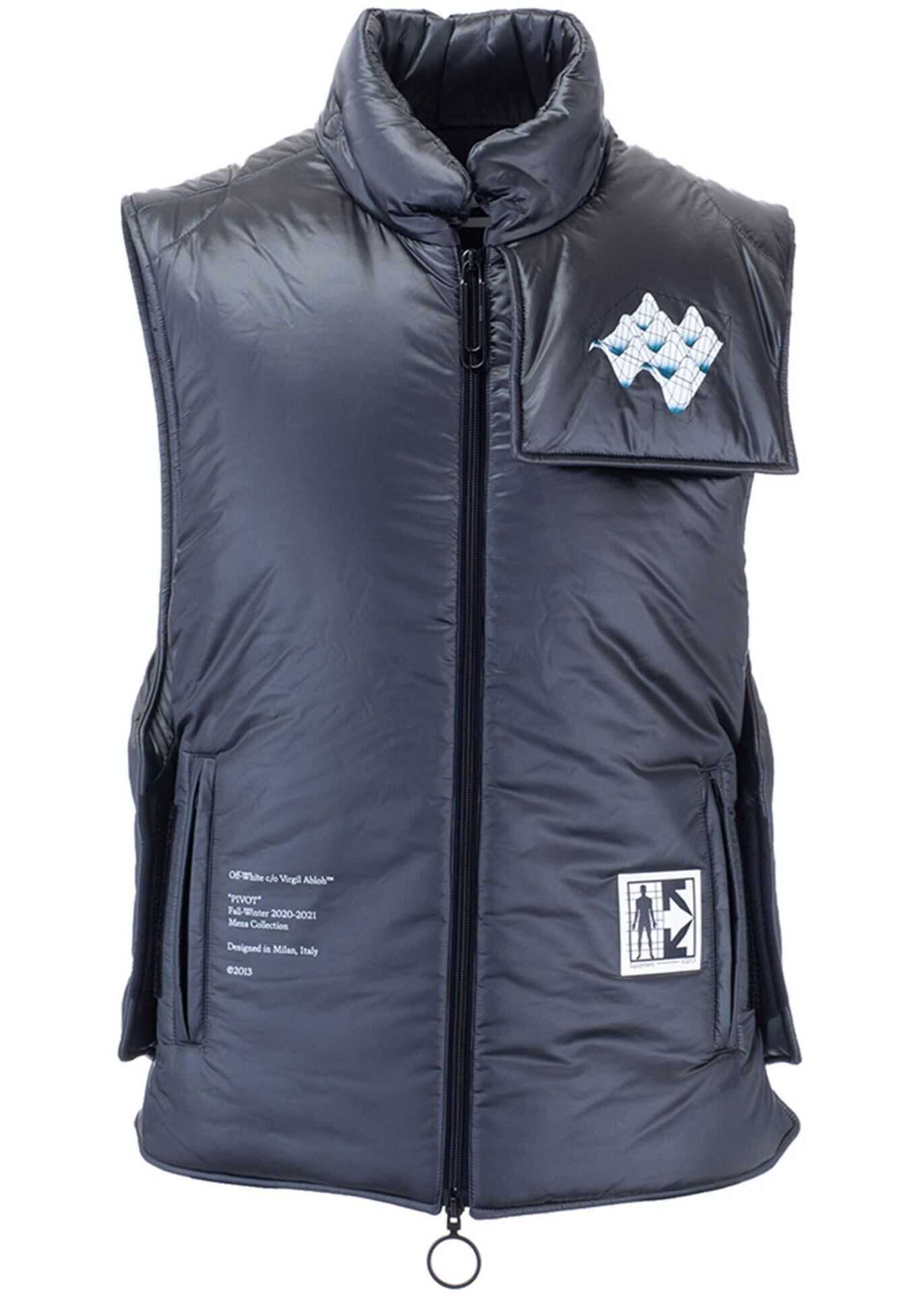Off-White Arrows Padded Vest In Grey Grey imagine