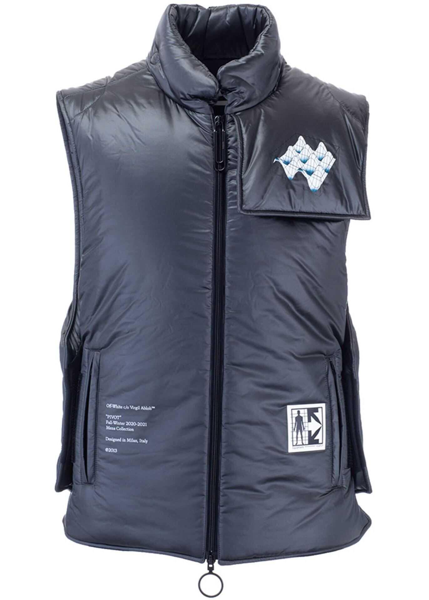 Off-White Arrows Padded Vest In Grey Grey imagine