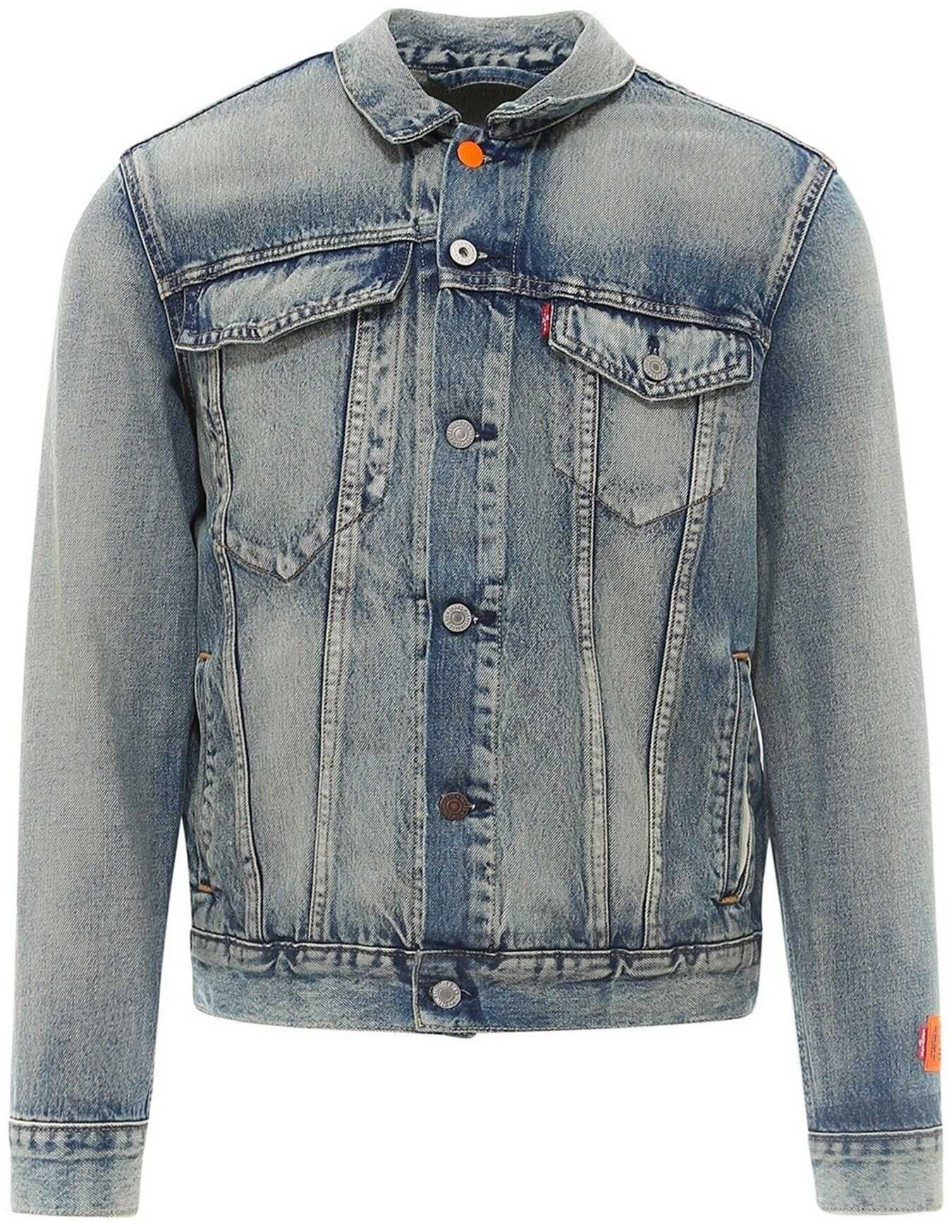 Heron Preston Logo Patch Denim Jacket In Blue Blue imagine