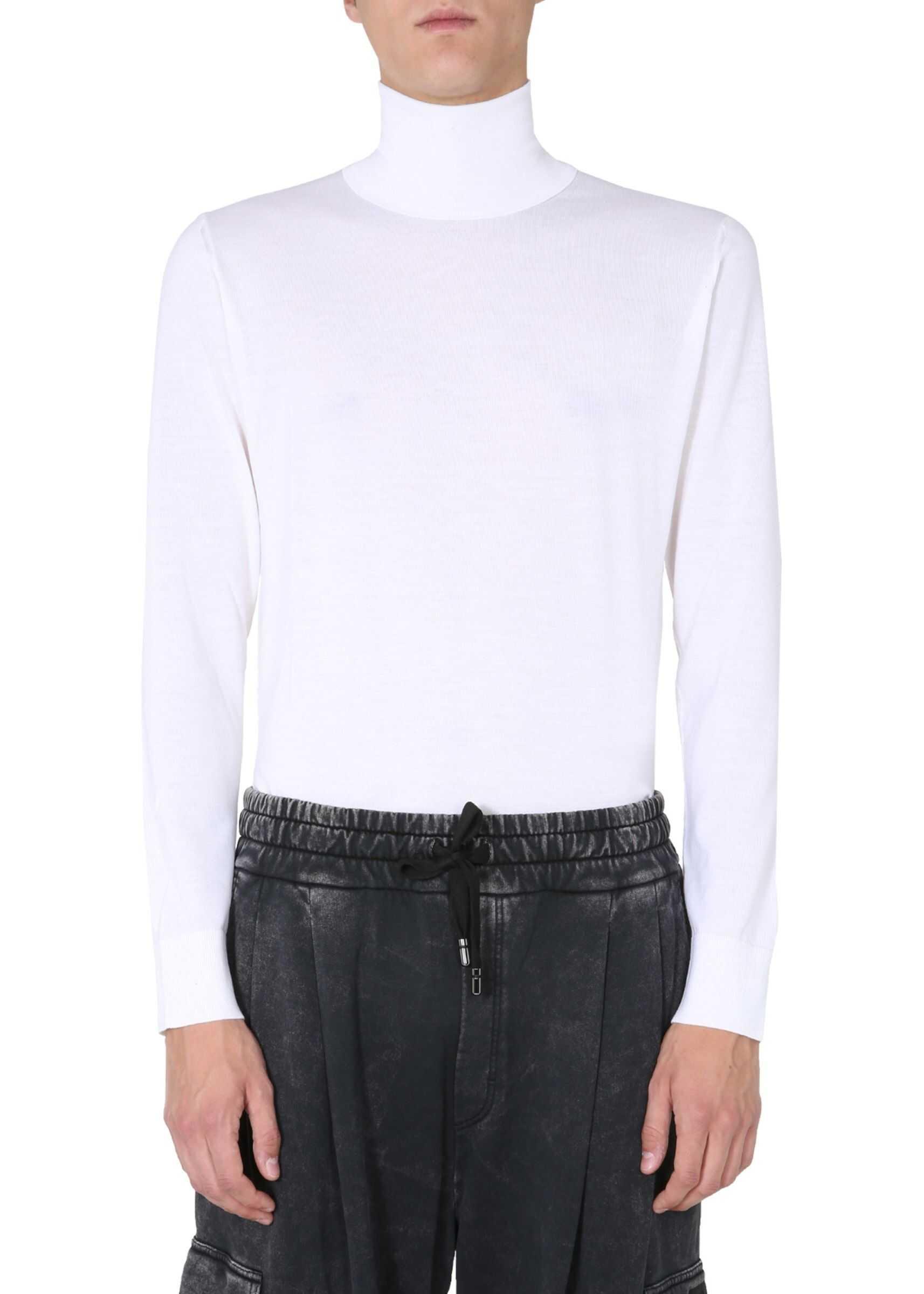 Dolce & Gabbana Turtleneck Sweater WHITE imagine
