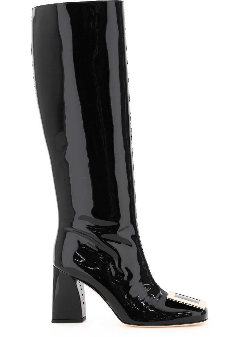 Tres Vivier Patent Boots