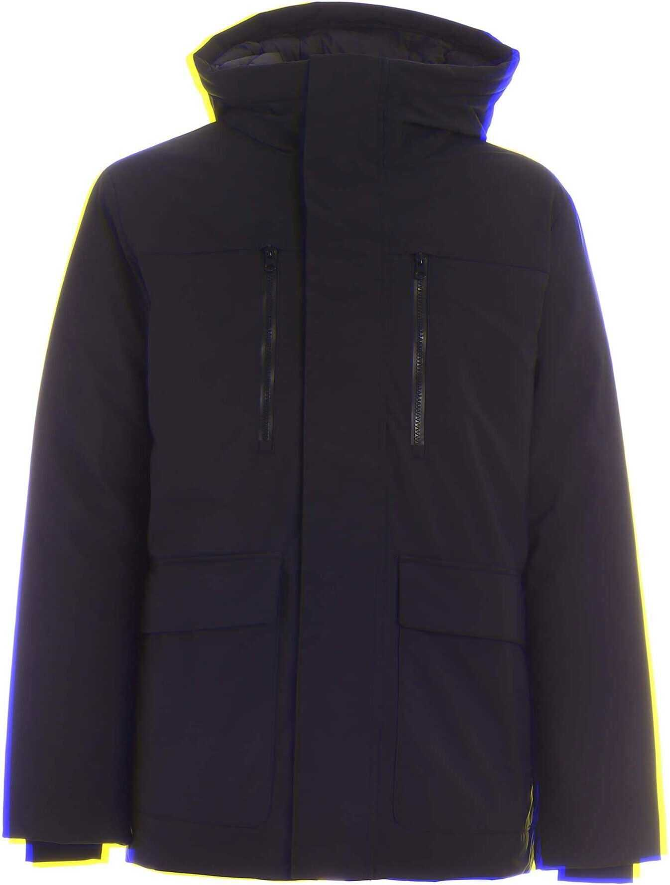 Save the Duck Smegy Hooded Parka In Black Black imagine