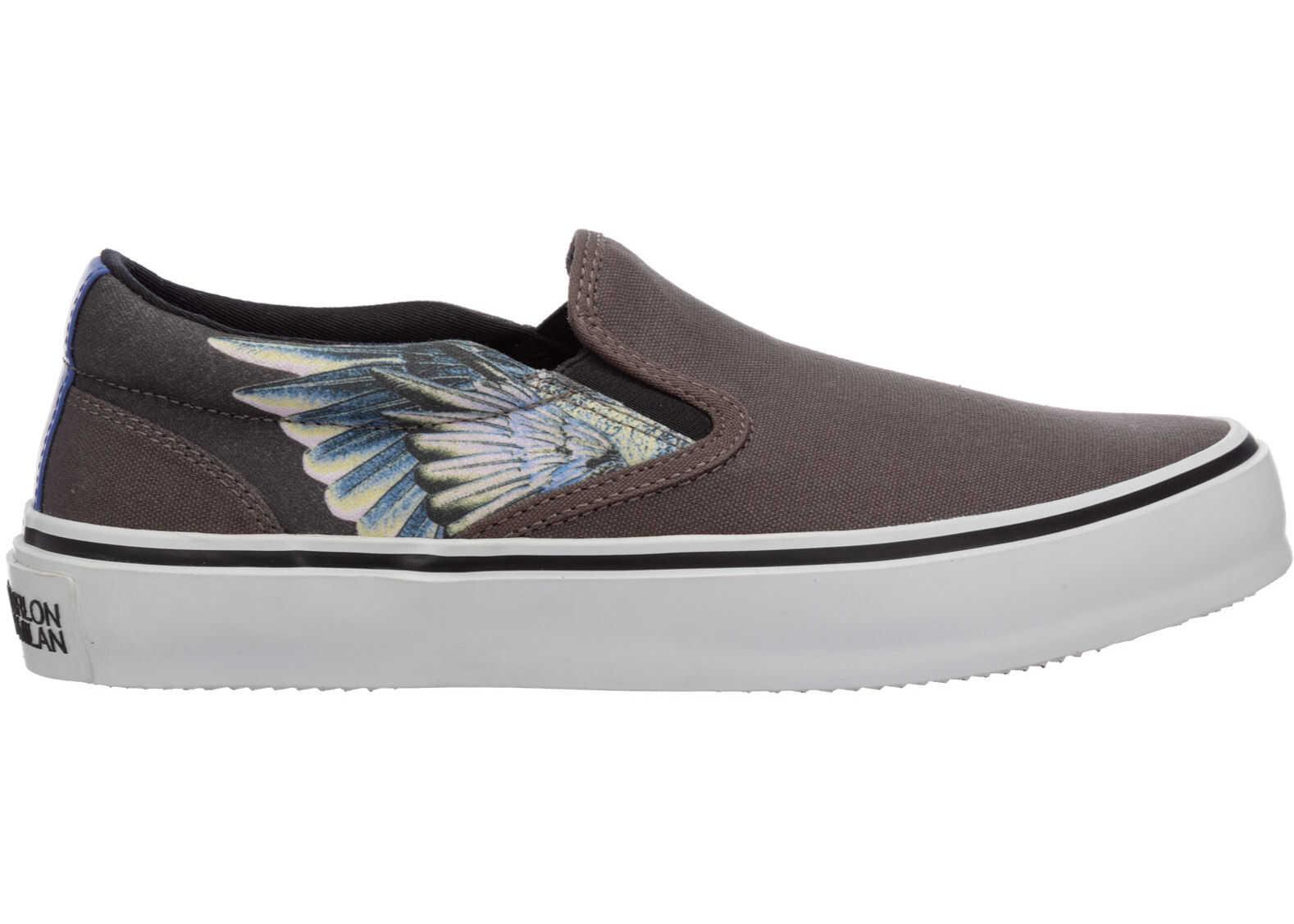 Marcelo Burlon Sneakers Wings CMIA079E20FAB0020730 Grey imagine b-mall.ro