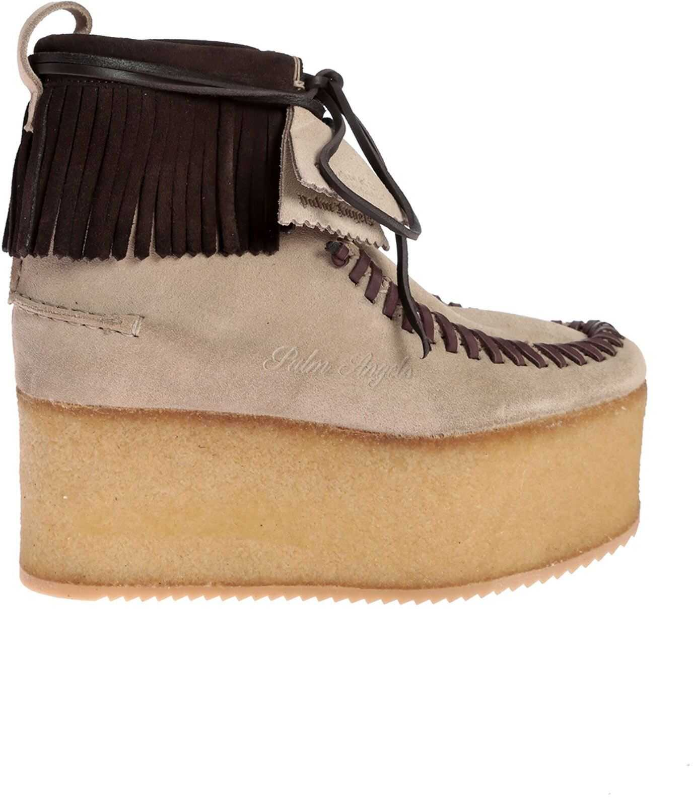 Wallabee Clarks Ankle Boots In Beige