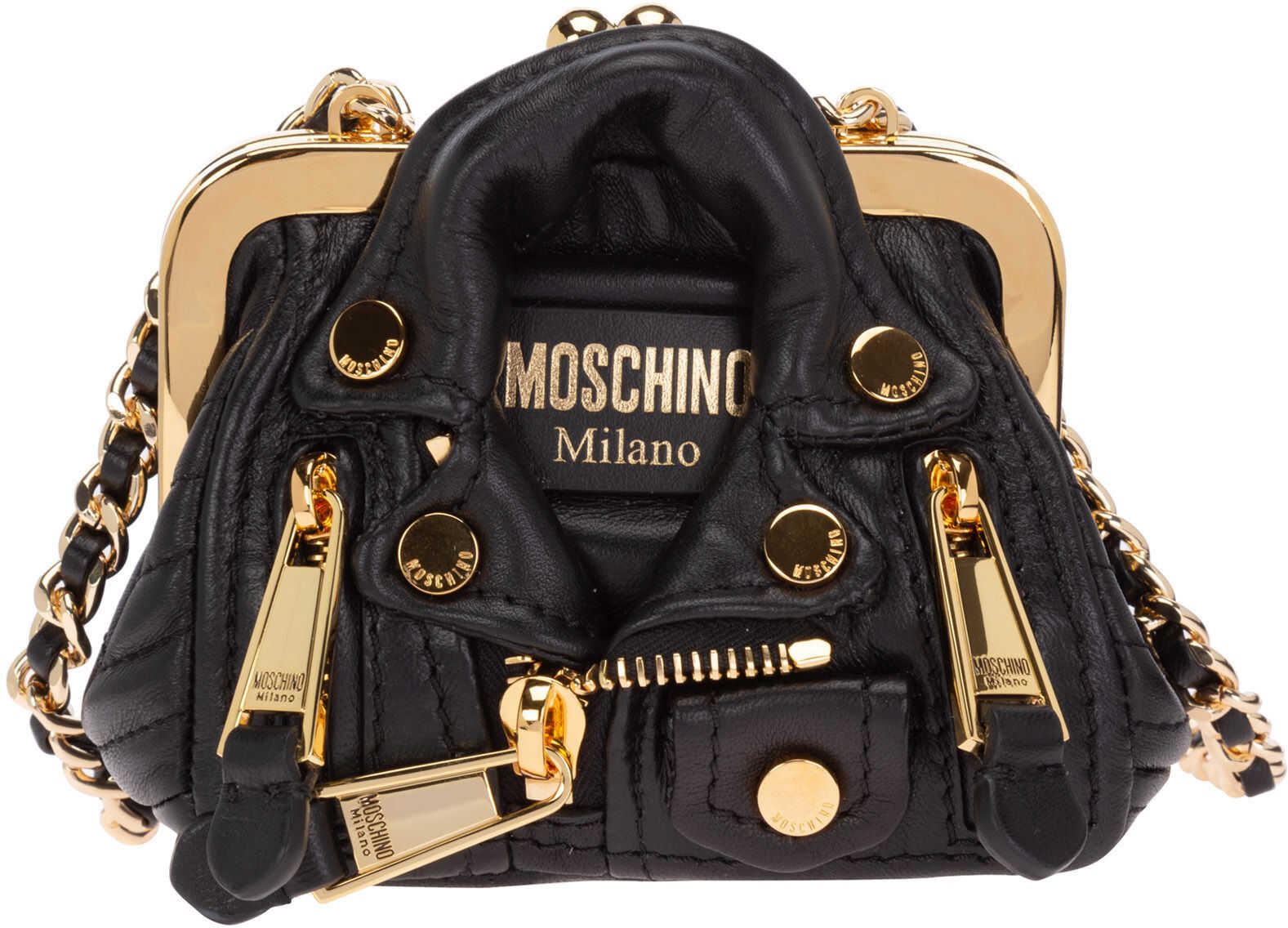 Moschino Shoulder Bag A748680021555 Black imagine b-mall.ro