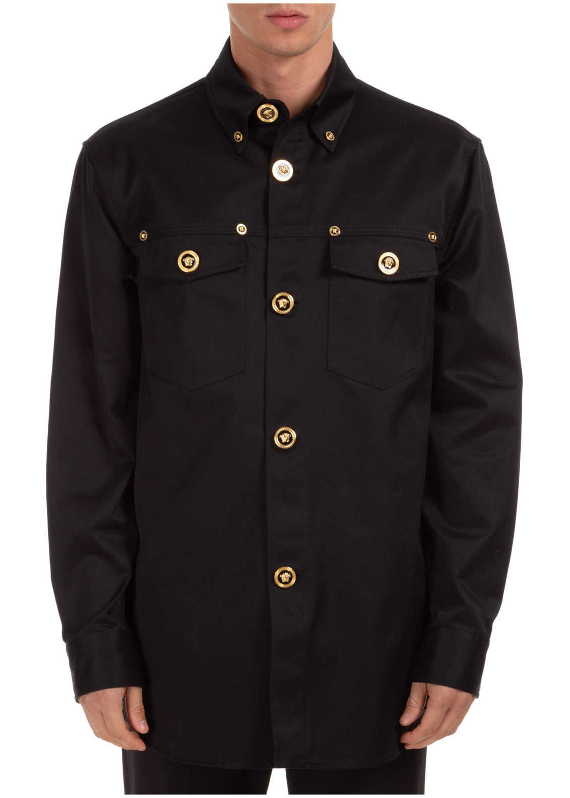 Versace Dress Shirt Black imagine